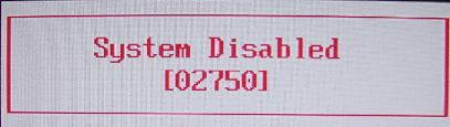 acer system disabled Bios Unlock Code