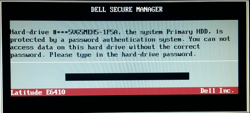 Dell 1F5A hdd Unlock Code