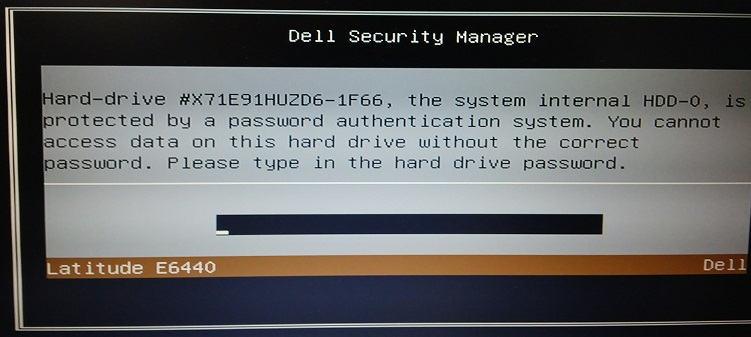 Dell 1F66 hdd Unlock Code