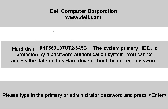 Dell 3A5B HDD password