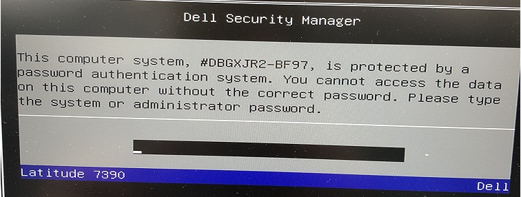 Dell BF97 System Password
